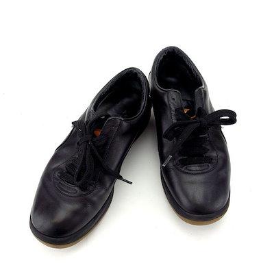 【中古】 ルイヴィトン Louis Vuitton スニーカー シューズ 靴 レディース ♯35ハーフ ロゴ ブラック×ベージュ レザー×ラバー (あす楽対応)人気 T13398