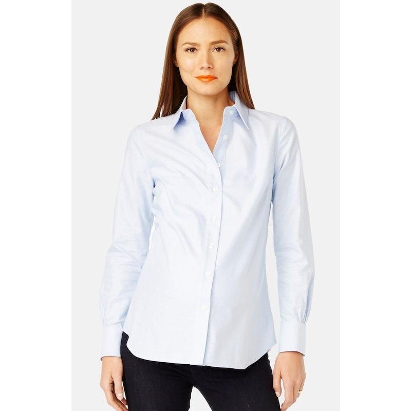 ロージー ポープ レディース トップス ブラウス・シャツ【 Classic  Maternity Shirt】Light Blue