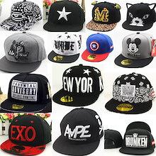 韓国ファッション EXO BIGBANG  韩国子供服 キッズ帽子 子供 キャップ  ミリタリー ワークキャップ ブラック ヒップホップ ダンス 衣装 ウェア 子供サイズ 野球帽