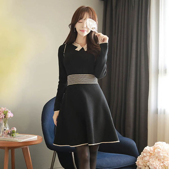 フィオナ輝かしい一日opsm5840ワンピース ニット・ワンピース/ 韓国ファッション