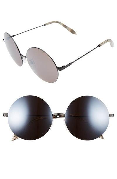 ヴィクトリア ベッカム レディース サングラス・アイウェア アクセサリー Victoria Beckham Feather 58mm Round Sunglasses
