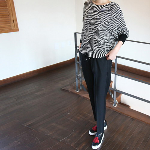 [zoozoom] Natural stingray fit knit 1color / 26067