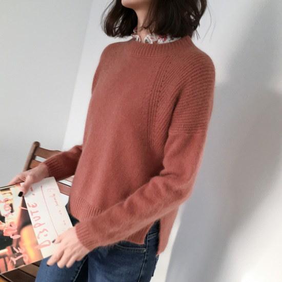 チェリーココlori angora、knitC712PHKN172アンゴラニットオンバルレイヤード ニット/セーター/韓国ファッション
