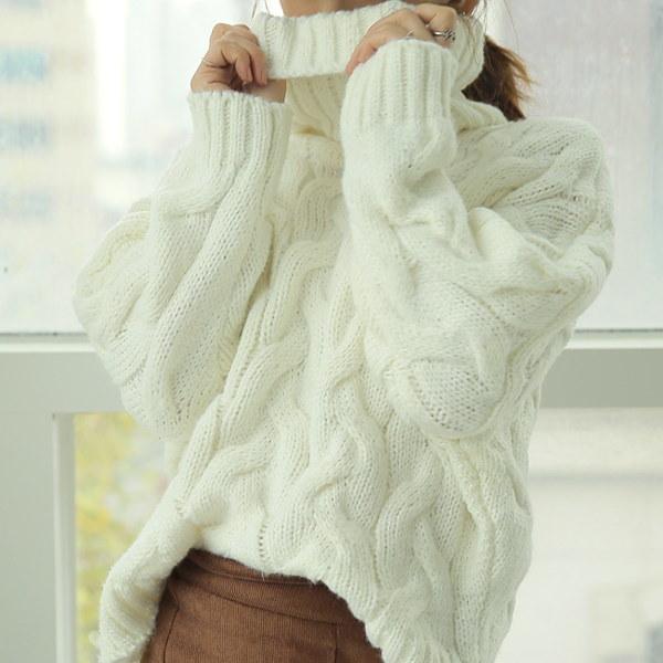 【海外直送】タートルネック ニット FREEサイズ 韓国ファッション レディースファッション