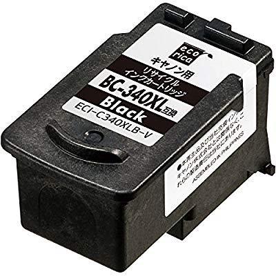 エコリカ 日本製 キャノン(Canon)対応 リサイクル インクカートリッジ ブラック大容量 BC-340XL (目印:キャノン341) ECI-C340XLB-V
