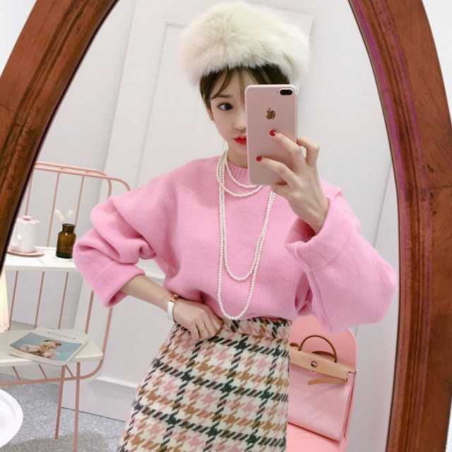 スンスミなアンゴラカラーニットkorean fashion style