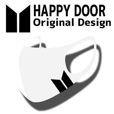 logo design [HAPPYDOOR オリジナル] JIMIN MASK マスク[ STRETCH ANTIBACTERIAL 3D MASK ] 洗濯可能 HYOSUNG [カラーマスク]