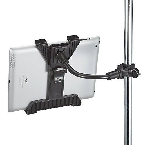 サンワダイレクト iPad・タブレットアーム パイプ・ポール設置対応 クランプ式 710.5インチ対応 100-LATAB001