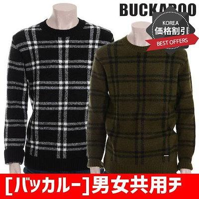 [バッカルー]男女共用チェックパターンプルオーバーニート(B184KT070P) ニット/セーター/パターンニット/韓国ファッション