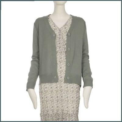 [チンウォンイエンシ、][正常価格99000、割引率56%]EnCカラーポイントショット機長シンプルカディゴンE /女性ニット/カーディガン/韓国ファッション