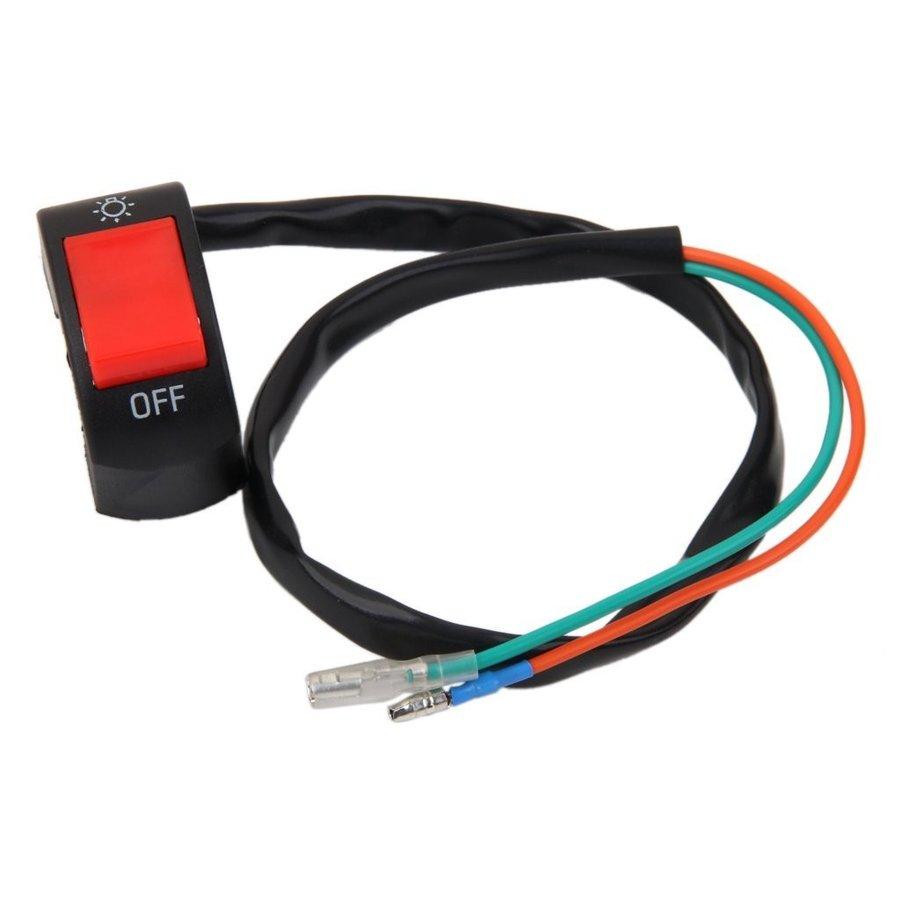 送料無料 フォグライト スイッチ ハンドルバー 12V DC 電気システム オートバイ 7/8 ブラック