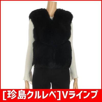 [珍島クルレベ]Vラインプルスキン、フォックス・ベスト(K2W3BV38) /ポコート/コート/韓国ファッション