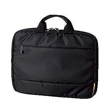 エレコム パソコンケース 11.6インチ (iPad pro12.9/surfacePro) ハンドル付き 前面ポケット ブラック BM-IBH11BK