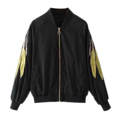 欧米風バック刺繍原宿スタイルBFMA1ジャケット 野球服コート ゆったりカジュアル上着 秋ジャケット ブラック