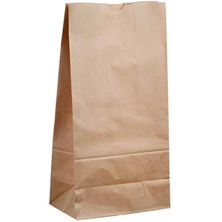 ヘイコー 紙袋 角底袋 No.6 クラフト 100枚[004010600](15x9x28cm)