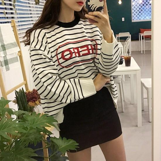 欲しいかヒーロー配色ダンカラ・ニット ニット/セーター/ニット/韓国ファッション