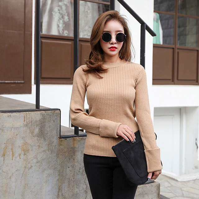 ラウンド段ボール基本ニットデイリールックデイリーバックkorea women fashion style