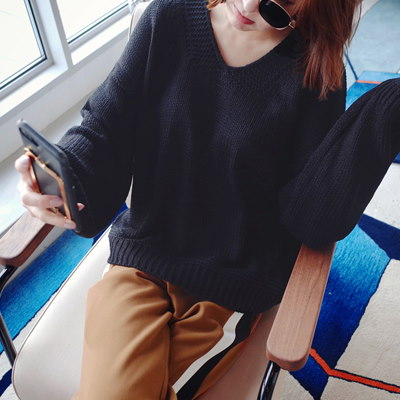 [mayblue] FW新着 ★送料無料★♥韓国ECサイト大ヒット!商品♥♥Limited Item♥♥バルーンスリーブルーズニット