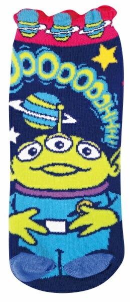 耳付きリブソックス リトルグリーンメンスペースポップ 22-24cm ZZM1024 ジェイズプランニング ディズニ−キャラクター くつした 靴下 プレゼント