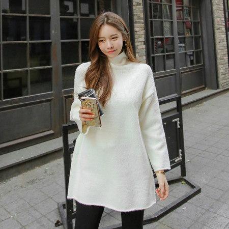 [Tom n Rabbit]ベリジュロングニットニットワンピース半ポーラデイリーベーシックkorean fashion style