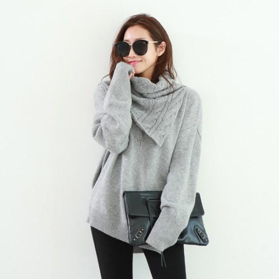 ピピンアモールネックウォーマーSET・ニット104764 ニット/セーター/ニット/韓国ファッション