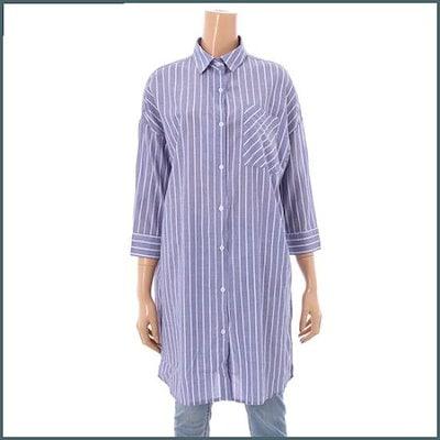 [旅行、]くるくる女性ロング南方シャツ(NSF332) /ルーズフィット/ロングシャツ/ブラウス/ 韓国ファッション