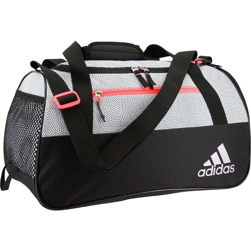 アディダス レディース バッグ ボストンバッグ・ダッフルバッグ【adidas Squad III Duffle Bag】White Grip/Black/Sun Glow