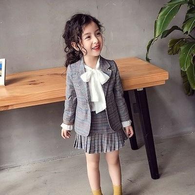 2a373cabe2e01 韓国子供服 スーツ 卒業式 女の子 小学生 入学式 入園式 ジャケット スカート 卒園
