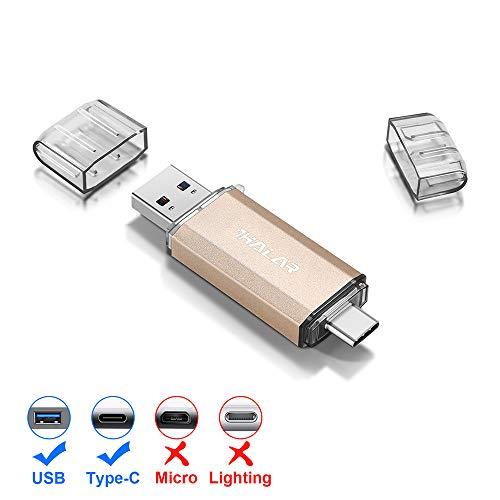 Thkailar タイプC USBフラッシュドライブ(Type - C usb3.1 gen1 usb3.0)高速デュアルフラッシュディスク (64GB 金)金64GB