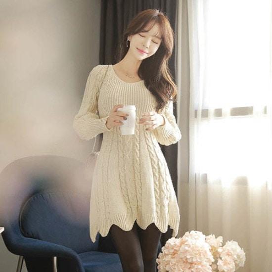 フィオナ】私の心の中エネルギーopsm5841ワンピース ニット・ワンピース/ 韓国ファッション