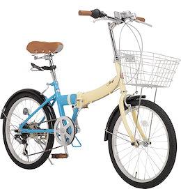 ALTAGE アルテージ 折りたたみ自転車 20インチ シマノ製6段変速 前かご LEDライト ワイヤー錠 付属 AFB-001