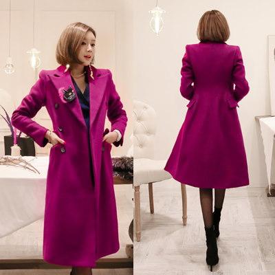 ♥大ヒット商品超特価♥韓国ファッション女性服1位『VIVARUBY』♡(パープル)泥灌漑コート♡最高級品質! 送料無料 P0000SSA