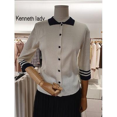 [AK公式ストア]【kenneth lady] [ケネスレディ] EKPOJD01カラー配色七分カットソー