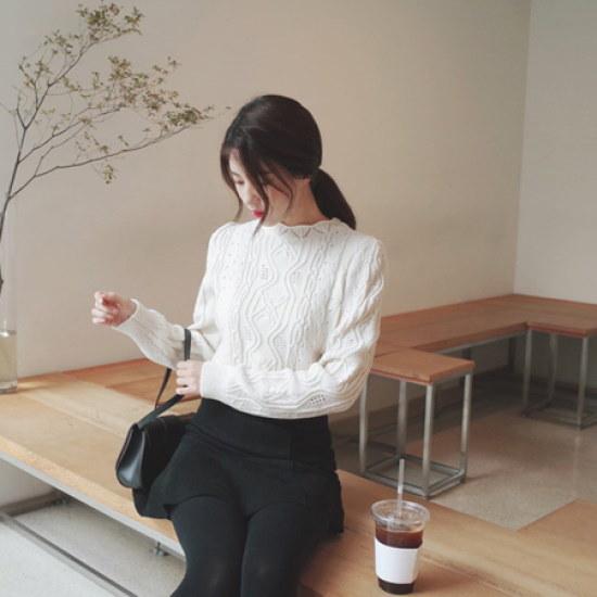ミミ・アンド・ディディenjoy life・ニット8046 ニット/セーター/ニット/韓国ファッション