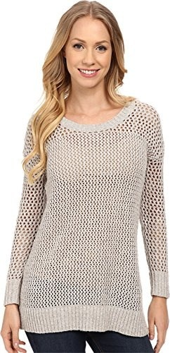 Lucky Brand Womens Laced-Up Pullover Grey Multi Sweater XS (US 0-2)