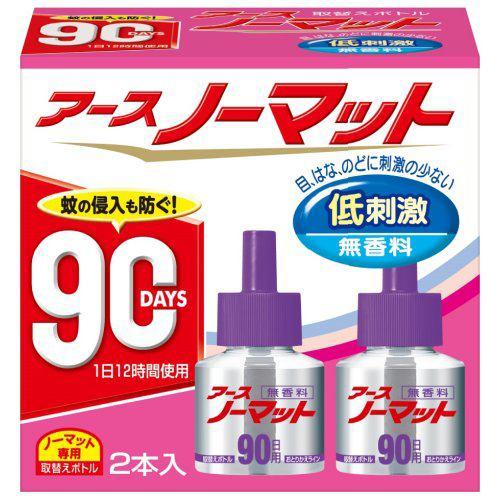 アースノーマット 90日用 取替えボトル 無香性 2本入り