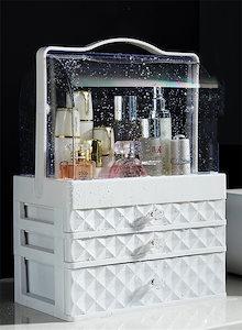 韓国人気商品!! 化粧品収納 収納ケース コスメボックス メイク用品収納 高品質  小物入れ 大容量 取っ手付 ミラー付き