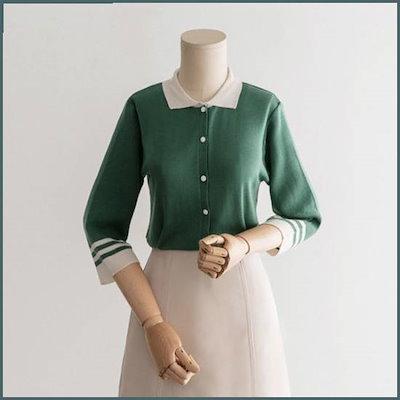 [ララエル]レーンカラニット /ニット/セーター/ニット/韓国ファッション