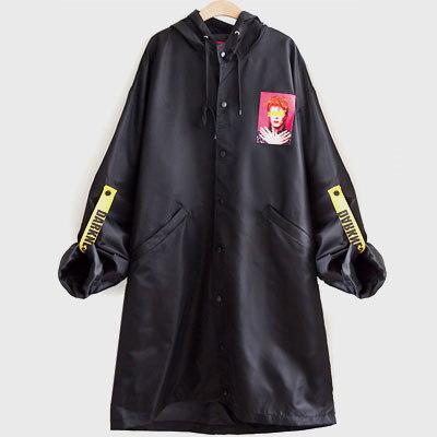 《送料無料》 DAVIDダークネスパッチストラップロングジャケット