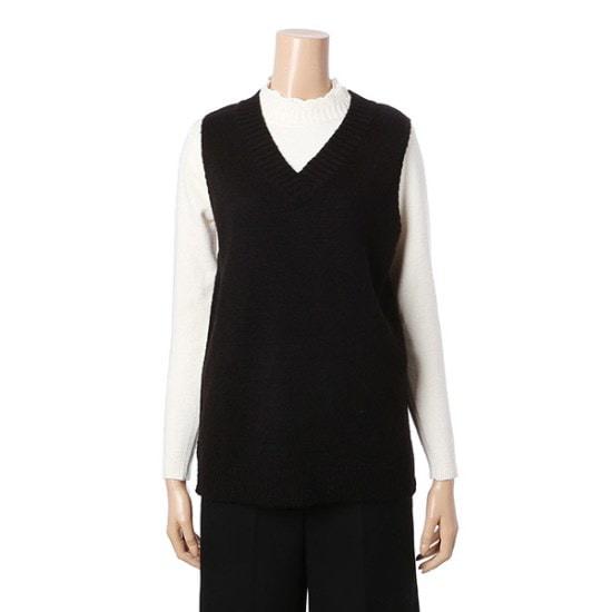 エイビープラスブイネク、袖なしのニットベストLSR4GW26J ニット/セーター/韓国ファッション