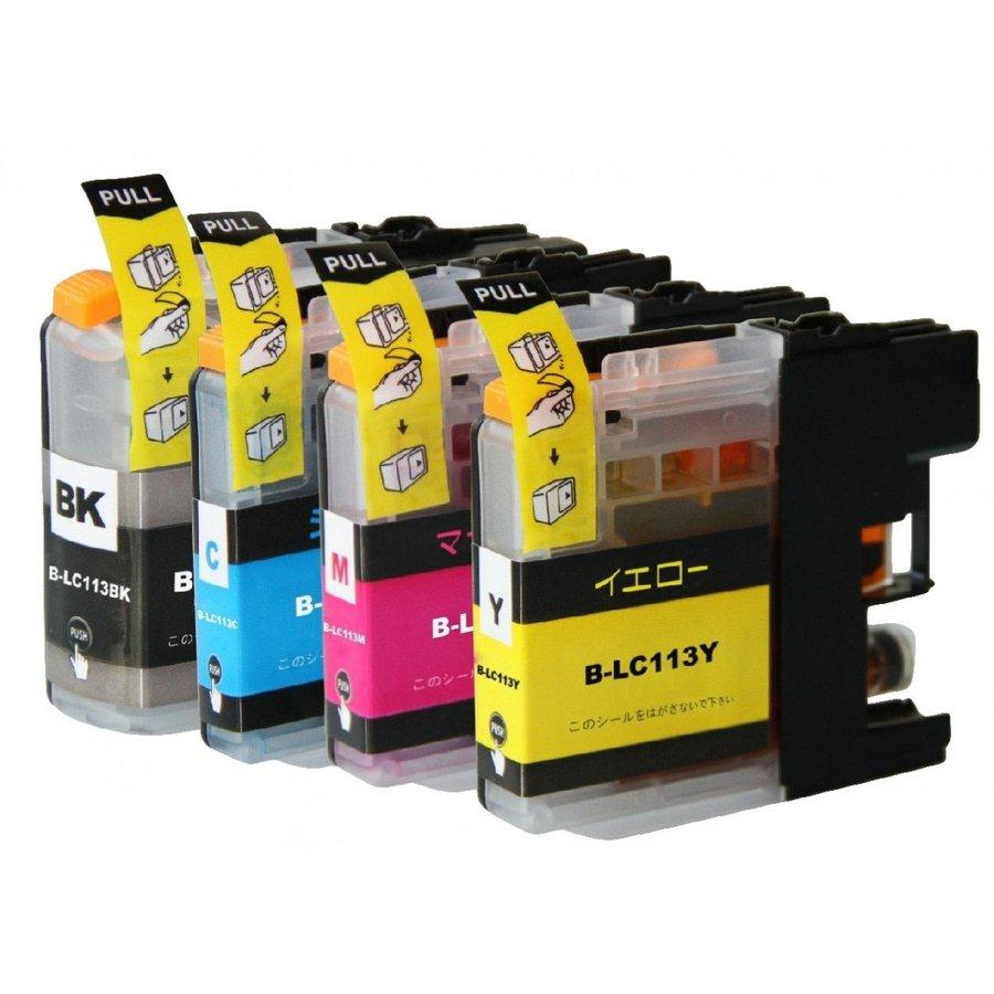 互換インクカートリッジ ブラザープリンター LC113シリーズ 単品販売 ICチップ付 残量表示機能付 LC113BK LC113C LC113M LC113Y 自由選択 単品