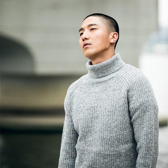 ・ウルフはもっとUnisex5ゲージラムウールのニット ニット/セーター/ニット/韓国ファッション