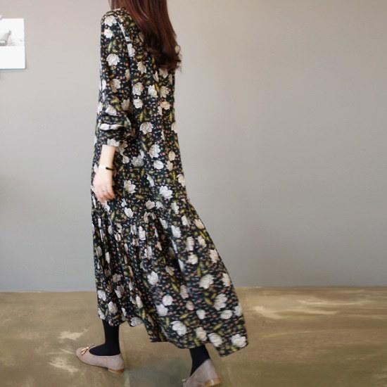 ガールズデイリーエルピュフラワーワンピース プリントのワンピース/ 韓国ファッション