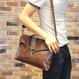 ビジネスバッグ ブリーフケース レザー 斜めがけ バッグ 革 紳士 軽量 メンズ 20代 30代 40代 メンズファッション おしゃれ かっこいい 春 夏 秋 冬 人気 流行