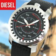 e2c779cb82 【送料無料】DIESEL ディーゼル 時計 おしゃれ ブランド RIG リグ DZ1750 海外モデル メンズ 腕時計 ウォッチ 革ベルト レザー 黒  ブラック レッド