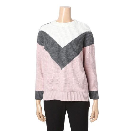 ロエムVパターンカラーブロックセーターRMKA74CRQ1 / ニット/セーター/ニット/韓国ファッション