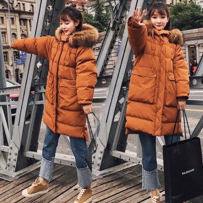 韓国ファッション  無地  ロング丈コート アウター  防寒 保温 あったかい   /フェミニン/通勤 女性用着回し イエロー、カラメル色