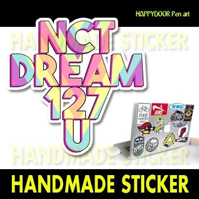 NCT DREAM127Uキャラクターイラスト WATERPROOF STICKER キャリアステッカー PEN ART 携帯キャリアステッカ-[happy door original]