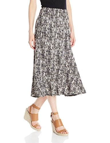Notations Womens 30 Inch Printed Maxi Skirt, Beige Extract, X-Large
