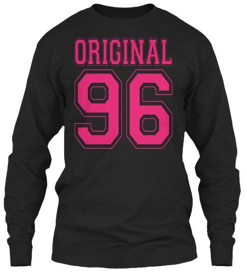 1996年21歳誕生日ギフト21歳女の子B-day Cute  - オリジナル96 GildanロングスリーブTシャツ